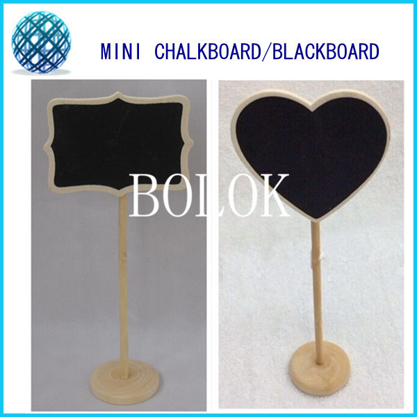 20pcs/lot Mini Wooden Chalkboards Blackboard on stick Stand, Table Numbers, Wedding-Candy Signs, Birthday party.