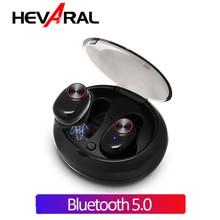 Hevaral Bluetooth 5.0 TWS True Wireless Earphones Cordless In Ear IPX7 Waterproof Sport Handsfree Earbuds 6 Hours Playing Time
