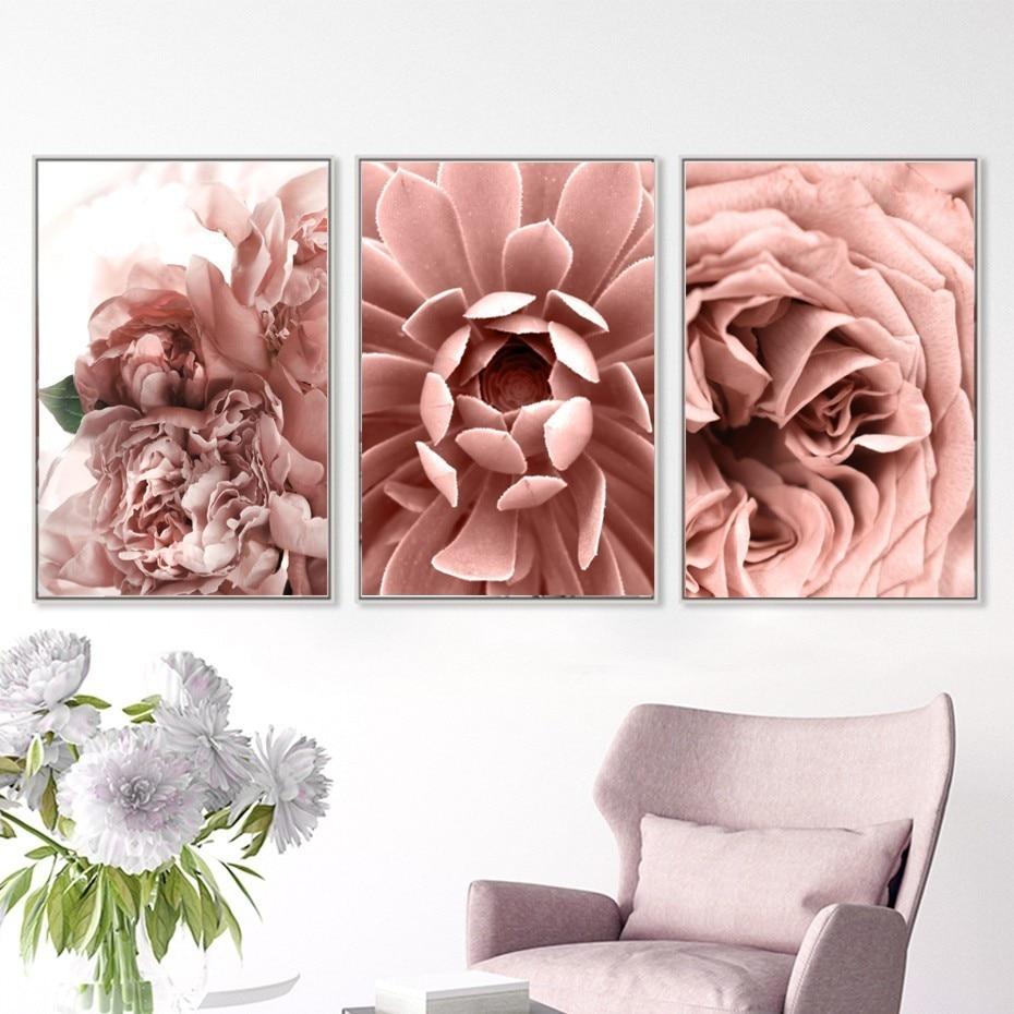 VINTAGE FLOWERS Art Print Poster Rose Roses Bouquet Floral Garden Kitchen Home