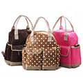 Fashion Polka Dot baby Diaper Bag Set Waterproof Women Tote Bag Mom Hobos Travel Nappy Bag Multifunction Stroller Diaper Bag