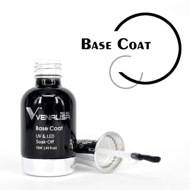 VENALISA No-wipe Top Coat 12ml Nail Art Gel Polish Shiny Glass Bottle Gel Nail Polish UV LED Base Foundation Super Matt Top Coat 2