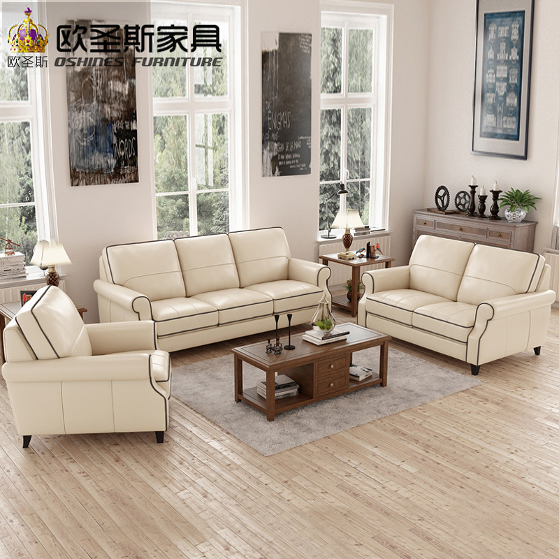 US $333.04 8% OFF|Light Coffee American Style 6 Seats Chesterfield Sofa  Replica Antique Office Leather Sofa Set Designs Of Single Seater Sofa  F75A-in ...