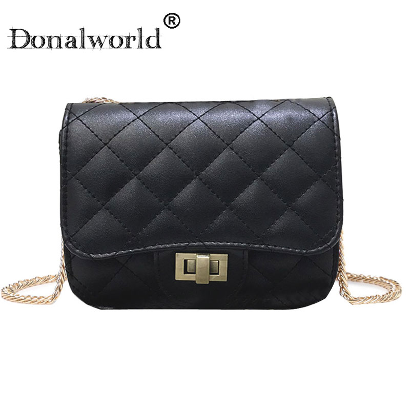 Donalworld 2018 fashion mini flap bag women quilted plaid chain shoulder bag Brand Design PU Leather Crossbody Bag hasp cover все цены