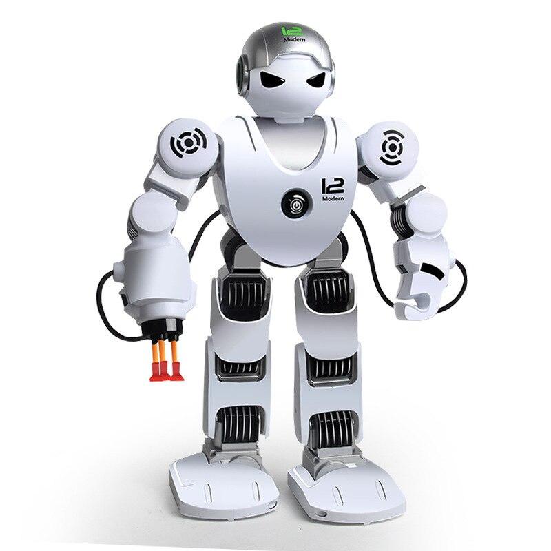 Smart RC Robot Intelligent marche enfants danse espace Robots jouets électroniques avec musique effet de lumière cadeau pour enfants passe-temps jouet