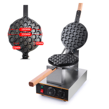 FY-6 Commercial Egg Waffle Maker 110v/220v QQ Egg Waffle Maker Stainless Steel Roaster Machine Egg Wafer Iron Machine 1pc double head 220v commercial churros waffle maker