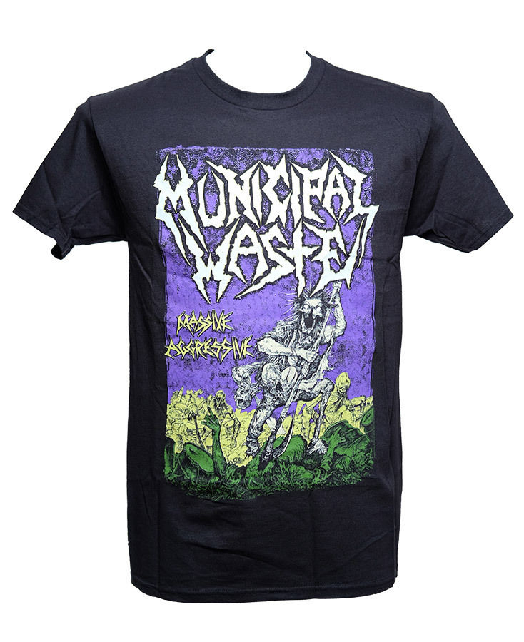 Men FashionMUNICIPAL WASTE - MASSIVE AGGRESSIVE - Official Licensed T-Shirt - New M L XL Short Sleeve Printed O-Neck Tee For Men
