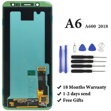 For SAMSUNG A6 2018 A600 A600F LCD Digitizer Super AMOLED Display Replacement Assembly for Samsung A6 2018 LCD Screen Touch(China)
