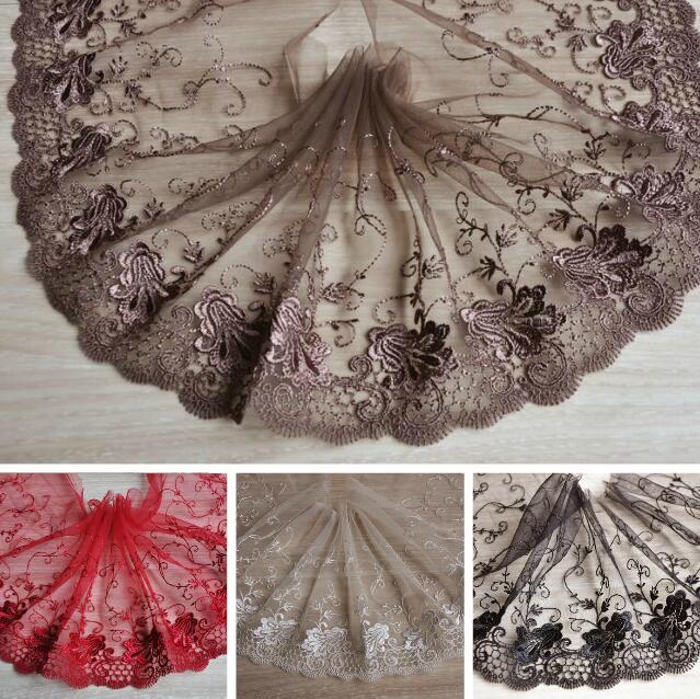 3 m Blanc Brodé Dentelle Bord Bordure ruban mariage Applique Sewing Craft