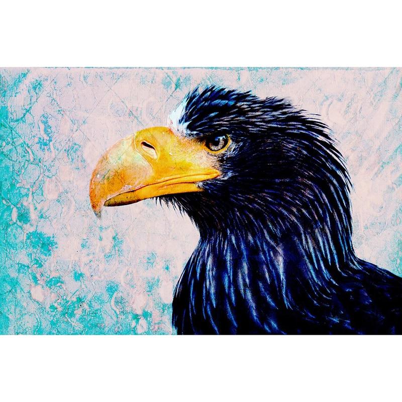 3D Cross Stitch DIY Diamond Painting Crow Diamond Embroidery Home Decor Wall Sticker Diamond Mosaic hcr