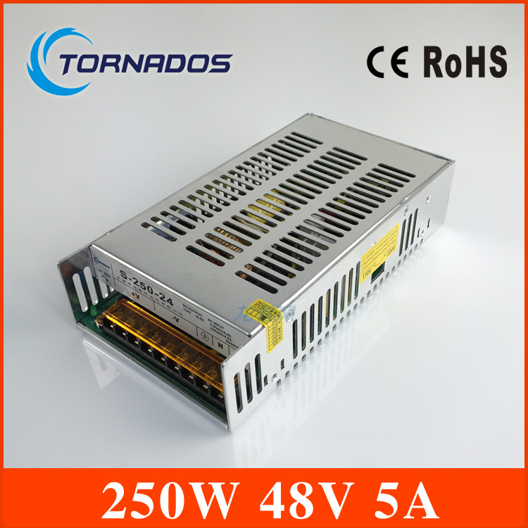 S-250-48 5A 48V 240W switching power supply, 48V LED power supply, factory direct sales AC to DC transformer aifeng 48v power supply 5a 240w ac 110v 220v to dc 48v 5a 240w switching power supply for led light motor monitor transformer