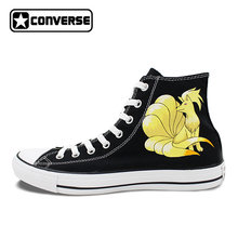a9e670d044ba High Top Sneakers Converse All Star Ninetales Anime Pokemon Design Custom  Hand Painted Shoes Men Women