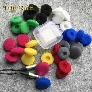 Image 1 - 20 pçs almofadas para fones de ouvido espuma 18mm esponja bluetooth fones substituição fone de ouvido capas mp3 mp4 moblie telefone