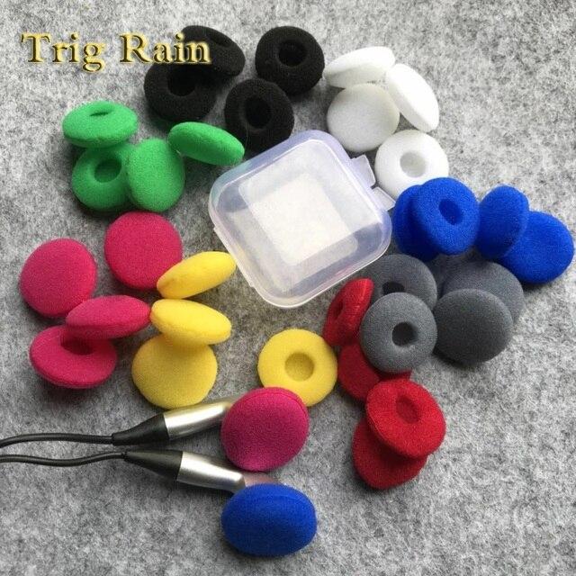 20 pçs almofadas para fones de ouvido espuma 18mm esponja bluetooth fones substituição fone de ouvido capas mp3 mp4 moblie telefone