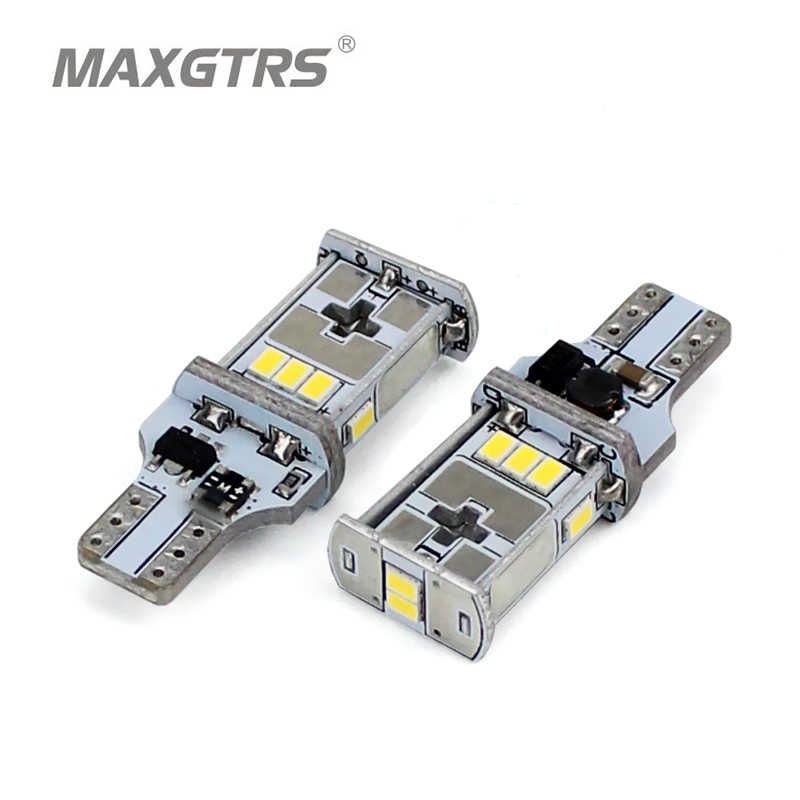 MAXGTRS 2x 921 912 T15 W16W LED Bulbs CANBUS Error Free For Car Backup Reverse Rear Tail Lights White Amber Warm White 4300K