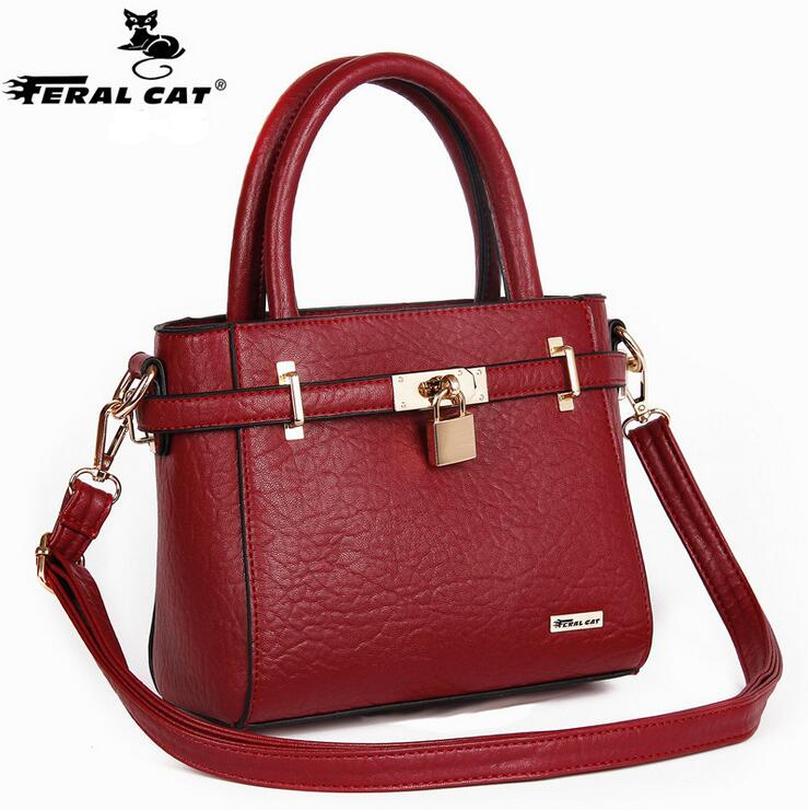 FERAL CAT 2017 New Arrival Soft PU Leather Women Handbags Fashion Crossbody Bags Female Handbag Trend Bag Bolsas Ladies Handbags feral cat ladies hand bags pvc crossbody bags for women single trapeze shoulder bag dames tassen handbag bolso mujer handtassen