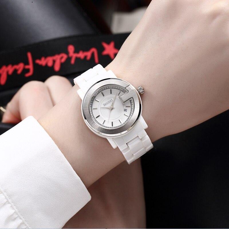DALISHI Famous Brand Women Watches 100% Ceramic Quartz Female Watch Fashion Big Dial Date Show Ladies Clock Relogio Feminino стоимость