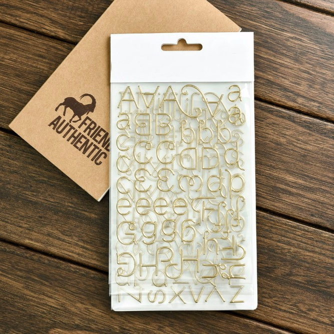 KSCRAFT Alphabet 3D Die Cut Self-adhesive Puffy Stickers for Scrapbooking Happy Planner/Card Making/Journaling Project