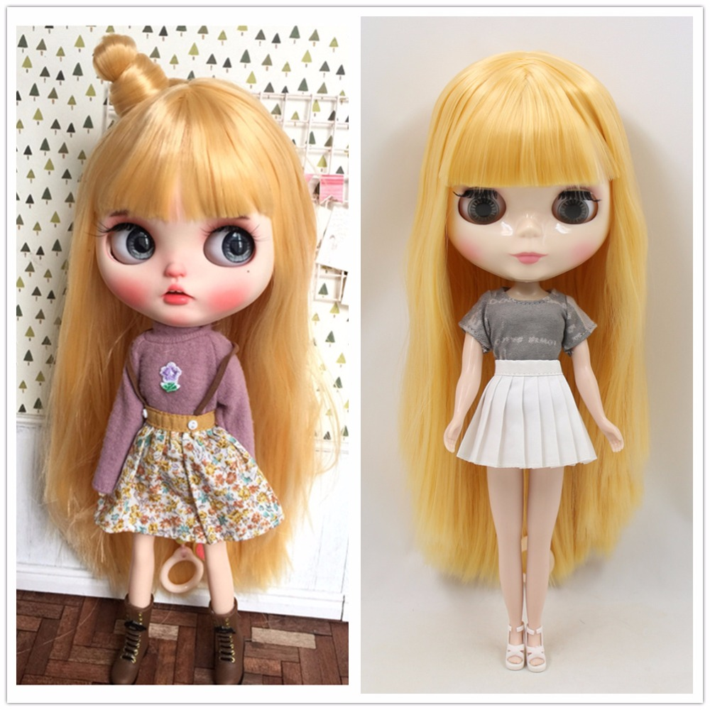 ICY factory blyth doll normal joint body white skin straight yellow golden hair BL0658 1 6