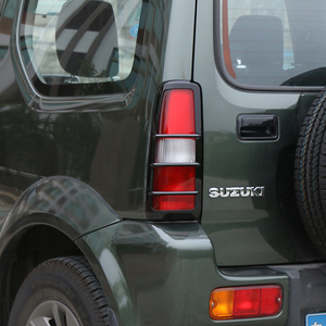 Image 3 - SHINEKA cubierta decorativa para faro trasero de Suzuki Jimny 2007 +, cubierta embellecedora para faro trasero de coche, pegatina adhesiva apta para ABS