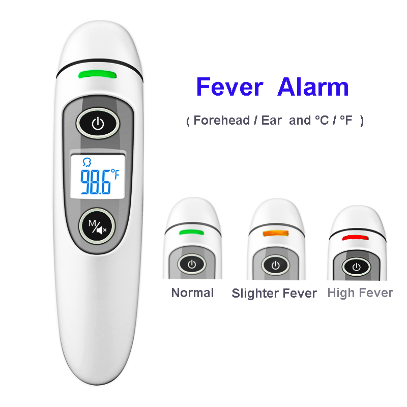 Health Care Baby Thermometer Digital Infrared IR LCD Baby Forehead and Ear Non-Contact Adult Body Fever Measurement Termometro цена