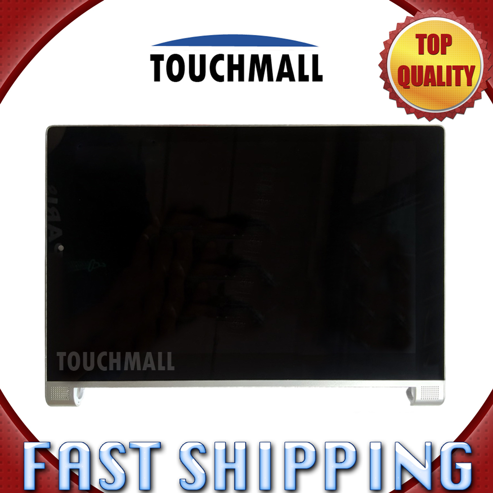 For Lenovo Yoga Tablet 2 1050 1050F Replacement LCD Display Touch Screen Digitizer with Frame Assembly 10.1-inch For Tablet replacement new lcd display touch screen with frame assembly for lenovo yoga tablet 2 1051 1051f 1051l free shipping