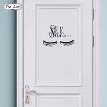 Vinyl Wall Sticker Girls Bedroom Decor Cute Beautiful Eyes Eyelash Pattern Decal Baby Room Decoration