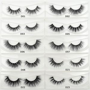 Image 2 - Free DHL 100 Pairs 3D Real Mink Eyelashes Wholesale HandMade Thick Natural Long False Eye Lashes Extension Makeup 33 Styles Lash