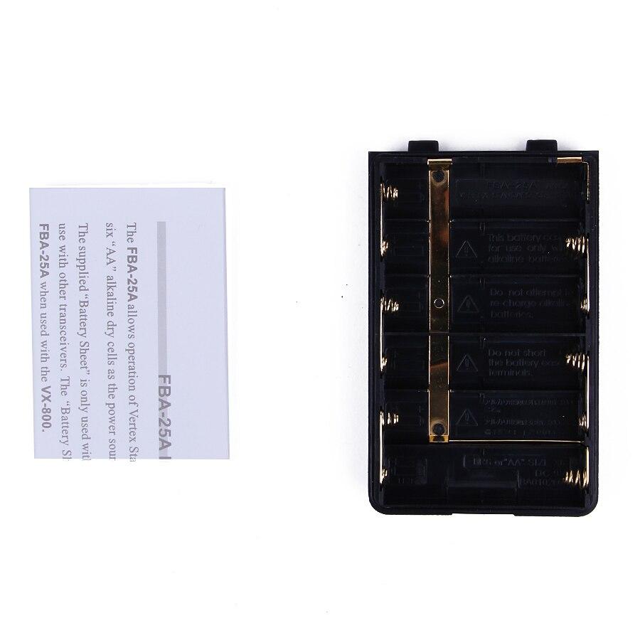 Aliexpress com buy battery case 6 x aa batteries for yaesu vertex standard radio vx 150 vx 400 hx370 ft 60r e vxa 300 vx 160 vx 168 fba 25a from