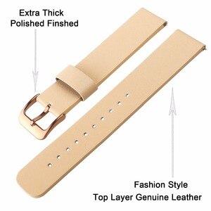 Image 2 - עור אמיתי רצועת השעון 20mm עבור Samsung Galaxy שעון 42mm R810 מהיר שחרור להקת החלפת רצועת יד צמיד רוז זהב