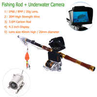 3.6M Carbo Rod with 8MP Underwater Camera Lens Fish Video Cameras Fishing Cameras Fishing Lens Free Ship