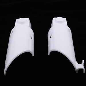 Image 5 - 1 זוג הלם מזלג מגיני עטיפות גמיש פלסטיק עבור הונדה CRF50 CRF 50 לבן מדויק Fit אופנוע אביזרי 2019 חדש