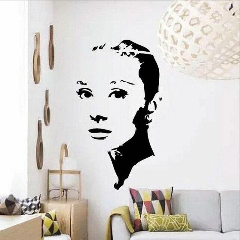 Roman Holiday Audrey Hepburn Wall Decal 3D Poster Vinyl