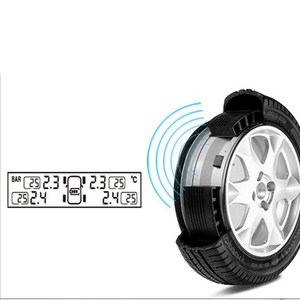 Image 4 - TPMS Tire Pressure Alarm Monitor Solar Powered Auto Tire Pressure Sensor LCD Display 4 Tires Real Time Wireless External Sensor