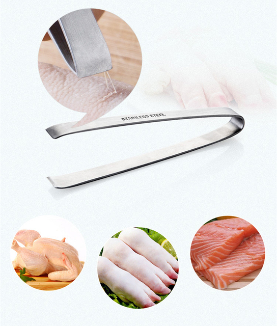 Cheap Stainless Steel Fish Bone Tweezers Remover Pincer Puller Tongs Pick-Up Tool Crafts High Quality