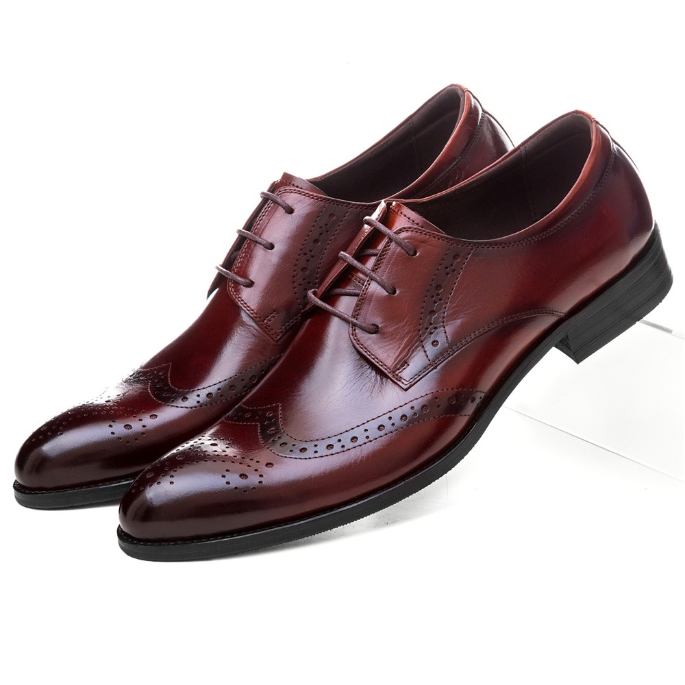 Fashion black / brown tan pointed toe oxfords mens dress shoes genuine leather wedding shoes mens business shoes mycolen mens shoes round toe dress glossy wedding shoes patent leather luxury brand oxfords shoes black business footwear