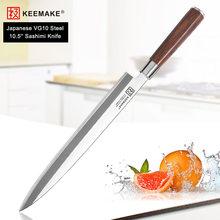 Keemake Премиум 105 дюймовые сашими кухонные ножи японский vg10