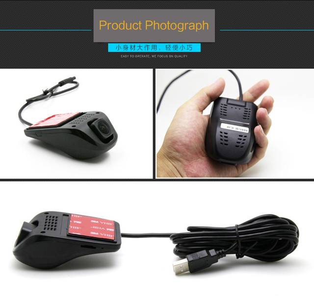 USB Dash Camera DVR Camera Video recorder Full HD ADAS Lane Departure Warning System Motion Detect Front Car Distance Warn