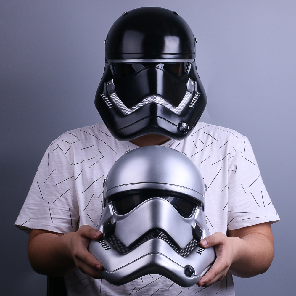 Stormtrooper Helmet Mask Star Wars Helmet PVC Black Stormtrooper Adult Halloween Party Masks