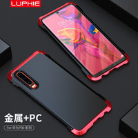 For Huawei P30 Pro Case Hard TPU Shockproof Armor Metal Top Phone Cases for Huawei P30pro Cover Luxury Accessories Protection