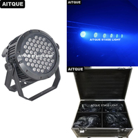 Outdoor Led stage light spot wash light 54x3w rgbw rgb led par light waterproof ip65 led par can flight case