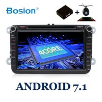BOSION 2 din 8'' Quad Core android 7.1 car dvd radio player 2din gps For VW Skoda POLO PASSAT B6 CC TIGUAN GOLF 5 Fabia wifi RDS