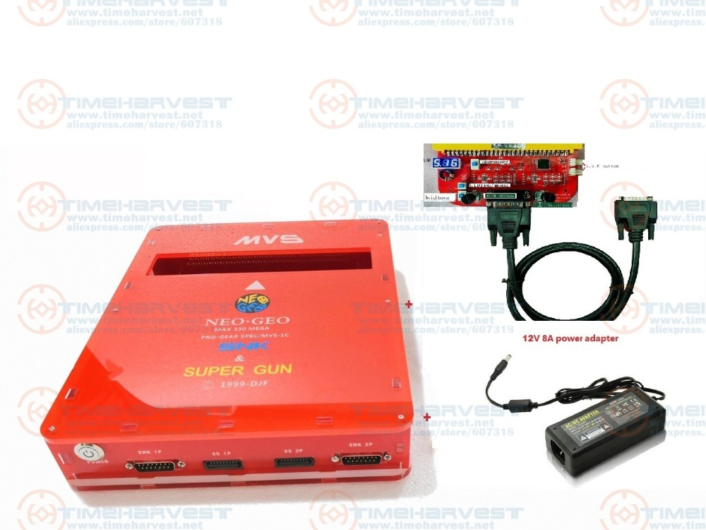New Arrival 2 IN 1 CBOX MVS SNK NEOGEO CMVS + JAMMA CBOX Converter With Power Adapter For 161 In 1 Game Cartridge & Pandora Box