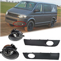 For 2010+ VW Transporter T6/T5 Before Facelift Lower Bumper Grill Fog Cover Fog Light Lamp Set Left & Right Side