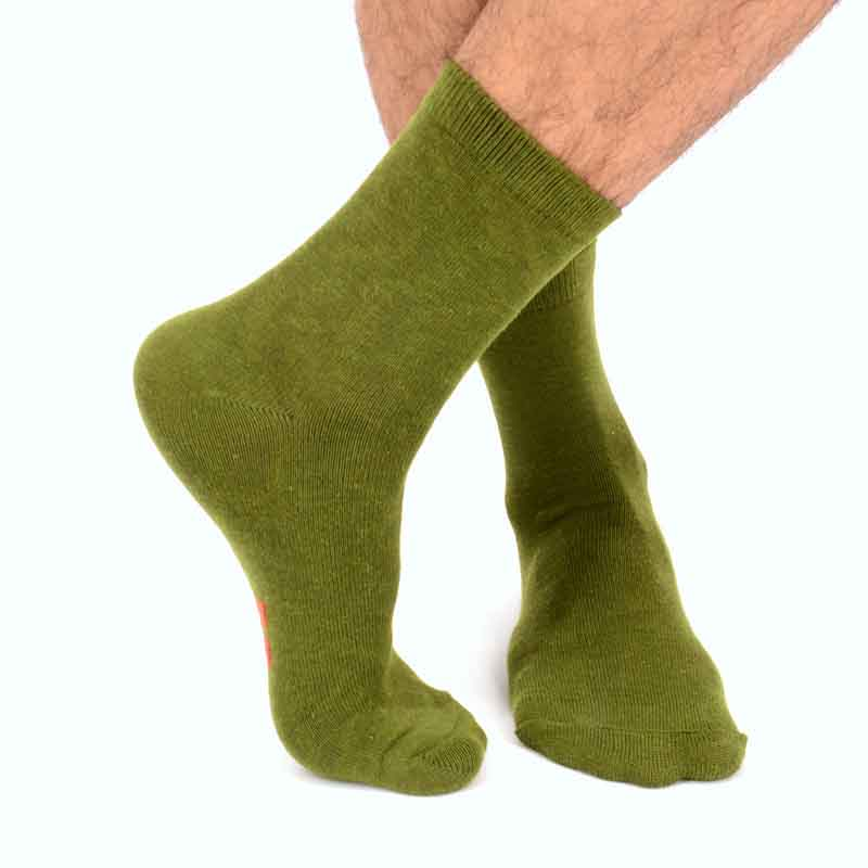 Leisure Solid Color Middle Tube Thick Section Keep Warm Cotton Socks Shallow Mouth Men Wear Resistant Socks Hosiery