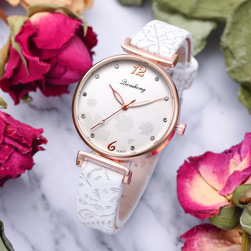 Fashion Flowers Dial Creative Quartz Watches For Women Simple Desgin Style Bracelet Dress Ladies Wrist Watch Reloj Mujer