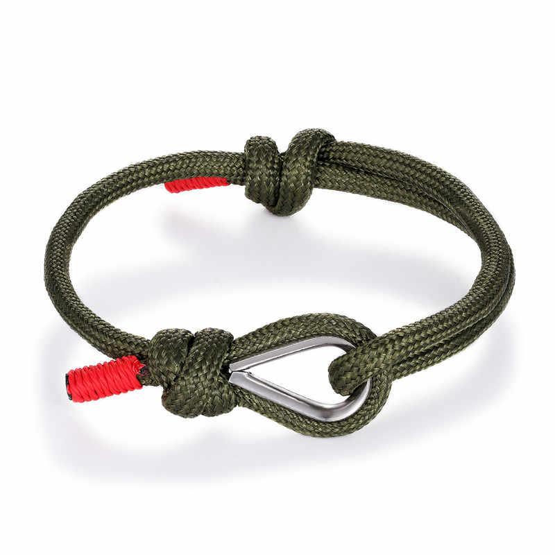 MKENDN высококачественный браслет с якорем для мужчин и женщин Шарм морской выживания Веревка Цепь-Паракорд Браслет спортивные крючки Летний стиль