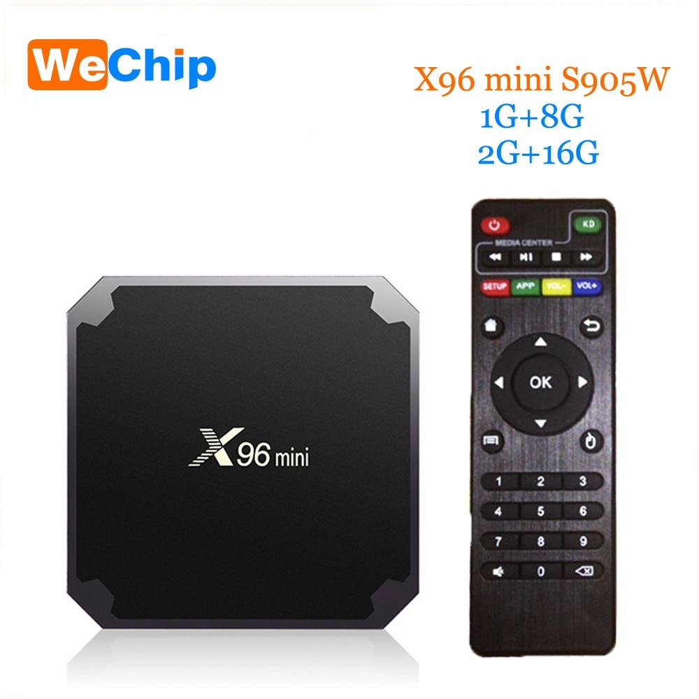 Wechip X96 mini Android 7.1 TV BOX 2 gb 16 gb 1 gb 8 gb Drahtlose WiFi Amlogic S905W Quad Core suppot H.265 UHD 4 karat 2,4 ghz Set-top box