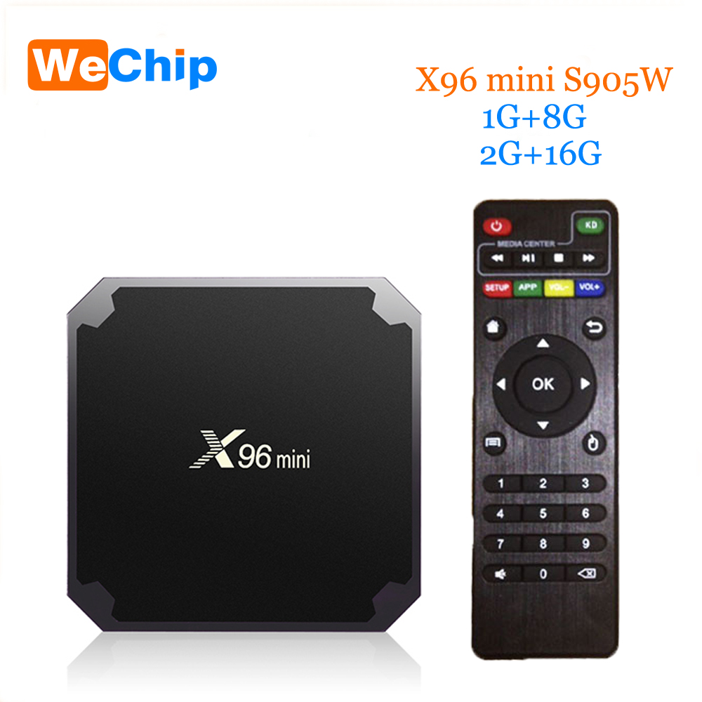 Wechip X96 mini Android 7.1 TV BOX 2GB 16GB 1GB 8GB Wireless WiFi Amlogic S905W Quad Core Suppot H.265 UHD 4K 2.4GHz Set-top box леггинсы urban classics ladies bandana leggings black white l