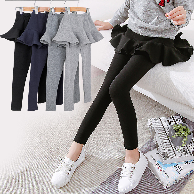 185fbf06a1cce Girls Leggings with Skirt Winter Warm Kids Cotton Pants Thick Warm Trousers  Girl Clothes Elastic Velvet