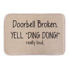 Animals Welcome Doormats Funny Sign Doorbell Broken Yell Ding Dong Home Decorative Door Mats Short Plush